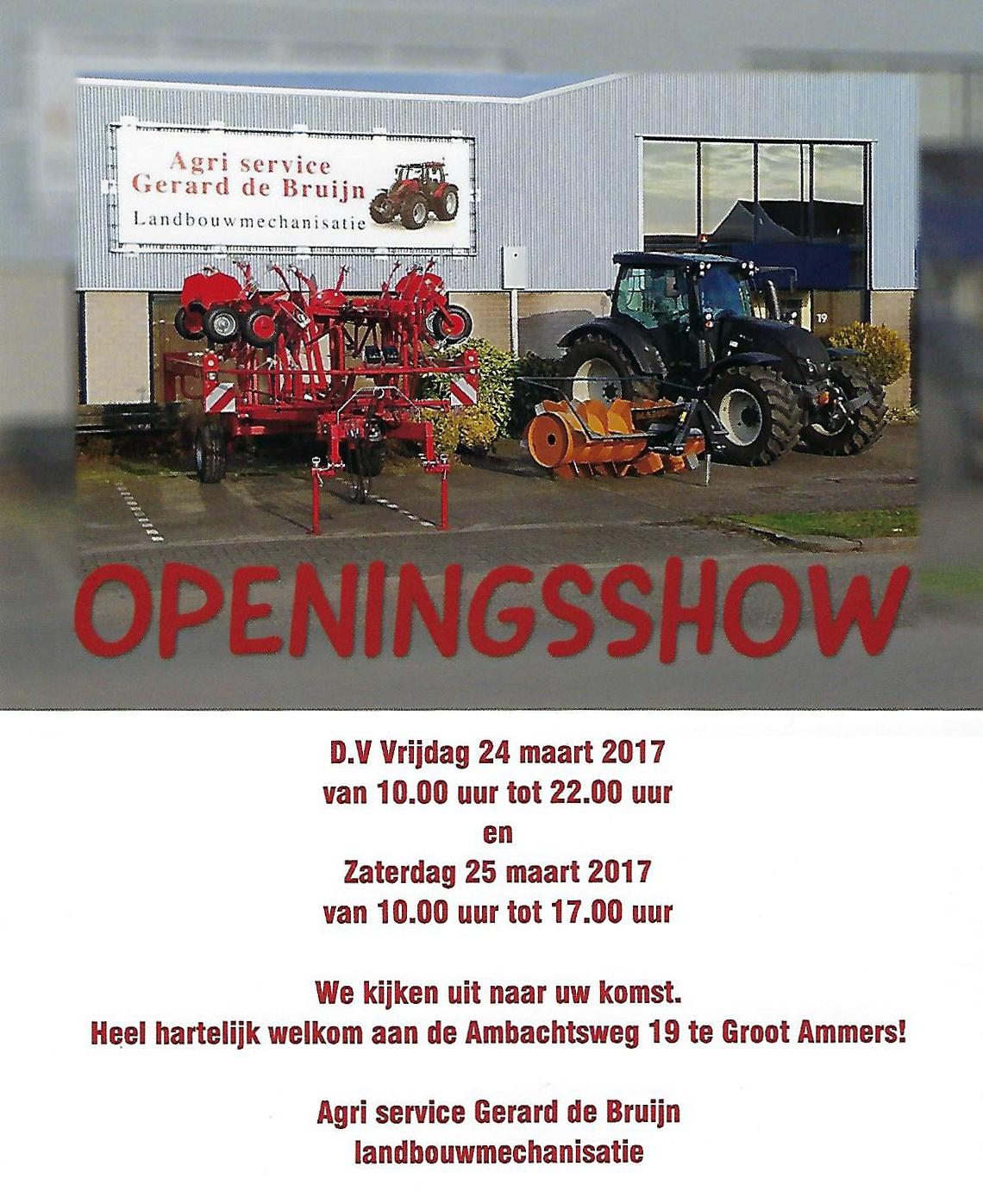 Openingsshow 24 en 25 maart 2017